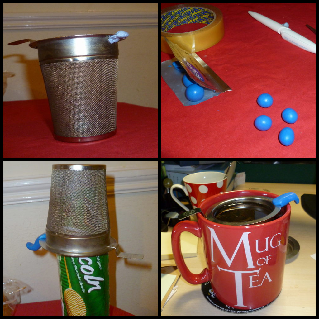How to make a small tea strainer fit a big tea mug