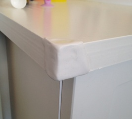 Repair flaking Formica on worktop