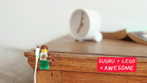 How to organise your cables with sugru + LEGO!