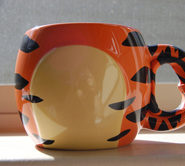 Camouflaged Tigger themed mug grip