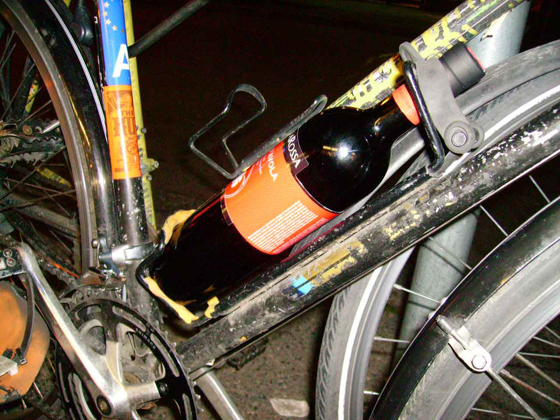 Pad a bike bottle holder