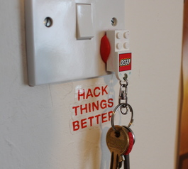 Make a LEGO key holder