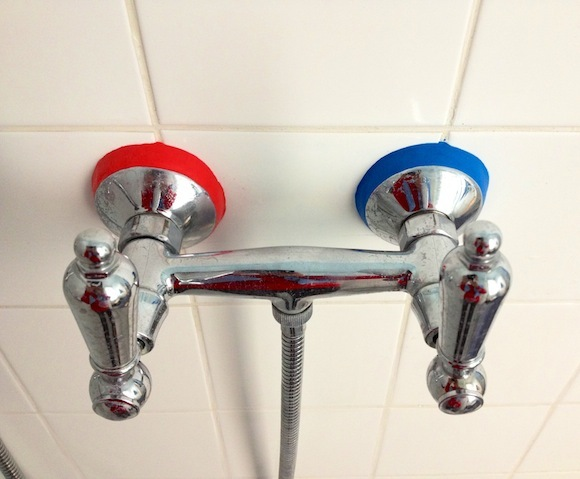 Seal your shower fixtures