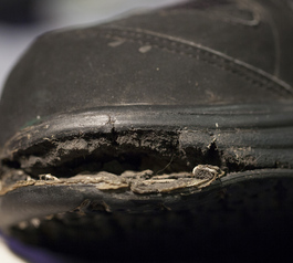 Repair an MBT shoe (before)
