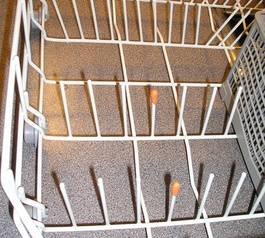 Give a corroding dishwasher basket a refresh