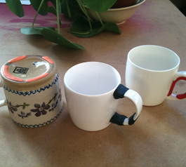 Personalise and fix old mugs