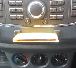 Add in-car card holders to your dashboard