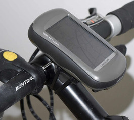 Secure a mountain bike GPS