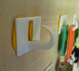 Reattach and save (no longer) self-adhesive hooks