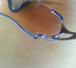 Repair broken cycling glasses (before)