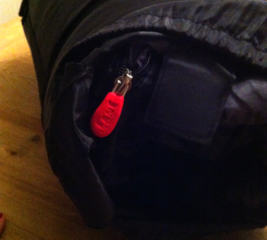 Add an ID tag to a sleeping bag