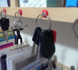 Create a magnetic key holder