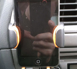 Improve an iPhone car holder