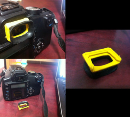 Rebuild an eyecup on a camera