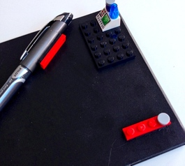 Personalise your notebook with LEGO