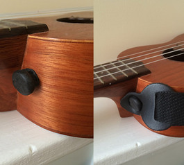 Make a strap button for an ukulele