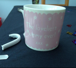 Fix and decorate a mug's handle (before)