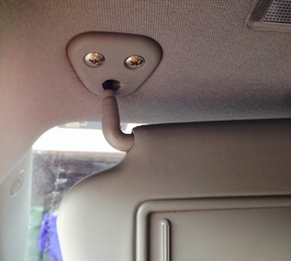 Re-attach a visor in your car (before)