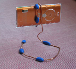 Make a wire camera holder