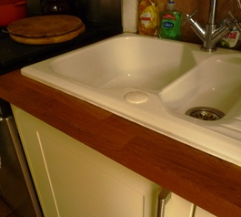 Make a seal around your kitchen sink
