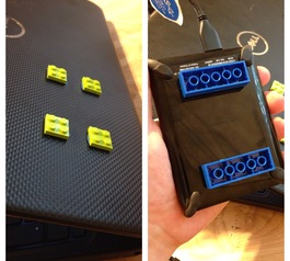Make a LEGO hard drive mount (before)