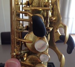 Make custom key raisers on a sax (before)