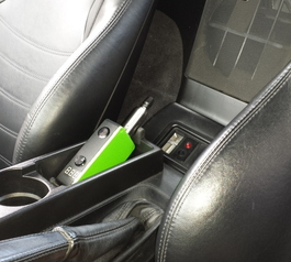 Make an in-car cradling for an e-cigarette