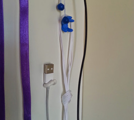 Make a cool cable tidy on you wall