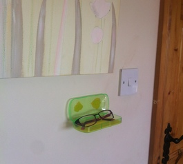 Make a kids' glasses wall holder