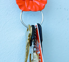 Make a beautiful magnetic key-holder