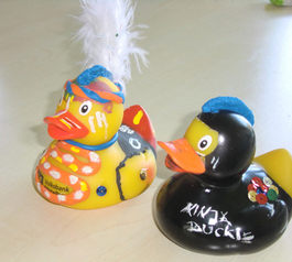 Give rubber ducks a little extra style!