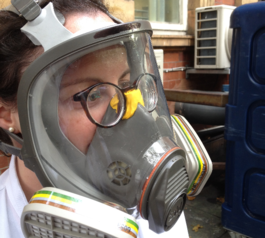 Make a respirator mask compatible with glasses