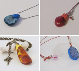 Make gemstone necklaces (before)