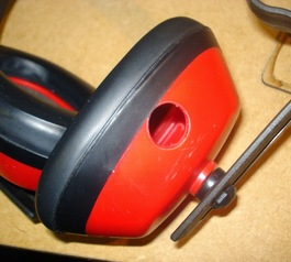 Combine your ear defenders and headphones (before)