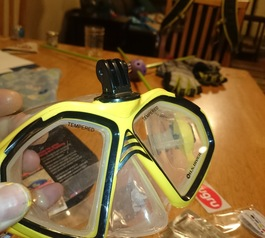 Mount your GoPro to a snorkel mask