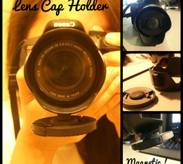 Create a sun hood lens cap holder