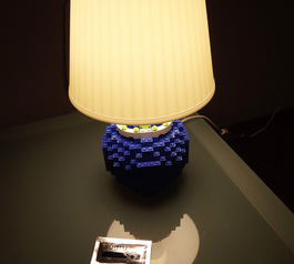Make a LEGO stand for a bedside lamp