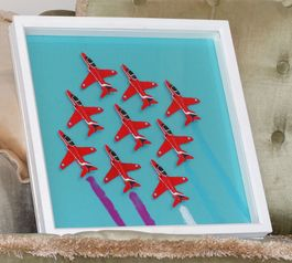 Create a red arrow art piece