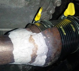 Temporarily fix your car exhaust