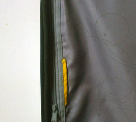 Fix a zipper on a suitcase