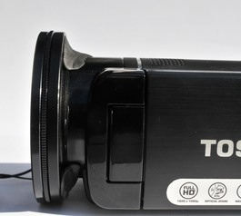 Add a stepping ring to a Toshiba camcorder (after)