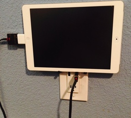 Add an iPad holder to the outlet (after)