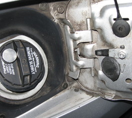 Make the gas cap on your car magnetic