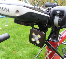 Make the strap of a Knog bike light magnetic