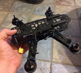 Add bumpers to a quadcopter (after)