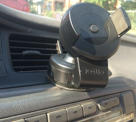 Mount a phone holder to your car dashboard (after)