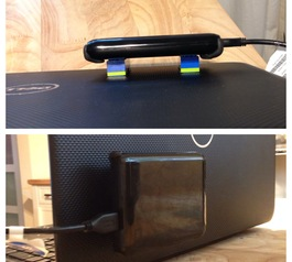 Make a LEGO hard drive mount (after)