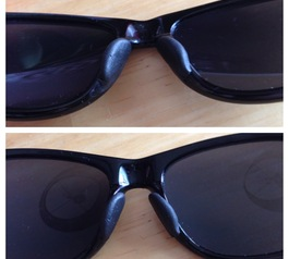 Make nose pads for sunglasses (after)
