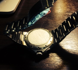 Replace a lost Movado watch back (after)