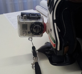Make a magnetic GoPro mount on your helmet (after)
